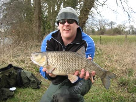 Alistair Spence and his 'shared' 6lb 6oz chub