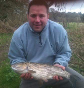 Andrew Farmer with his new pb chub of 7lb 4oz