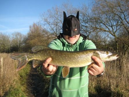 Batman with his pike.