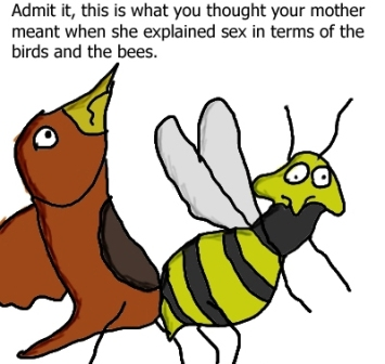 This wasn't actually the picture that Brian had selected to describe the Birds and the Bees.....