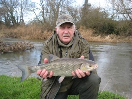 Brian Willson with the smallest of five chub he landed in a single session