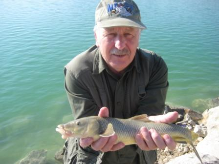 Brian with a small Spanish barbel