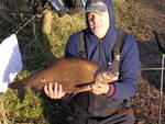 One of Brian's infamous micro photo's of Dave Webley with a 7lb 12oz bream
