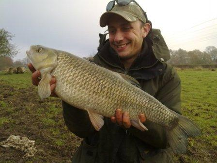 Eddy Widdup with his best chub of the day weighing 6lb 9oz