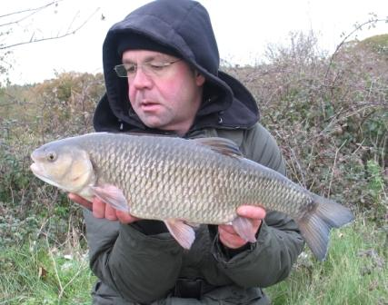 A superb chub of 7lb 12oz landed by John McGough