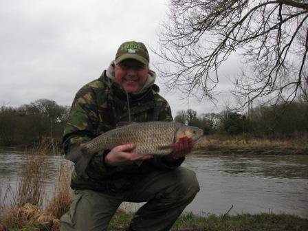 Keith Humphreys with a lovely 6lb 10oz chub