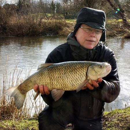 Kevin Smith with his best chub of the day weighing 6lb 9oz