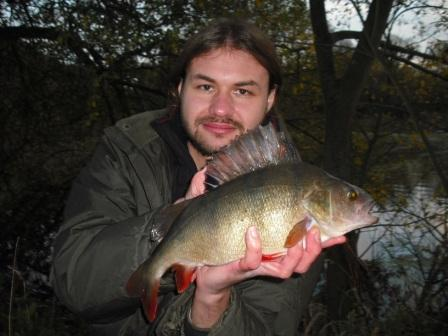 Luke with a beautiful looking 2lb 7oz Perch