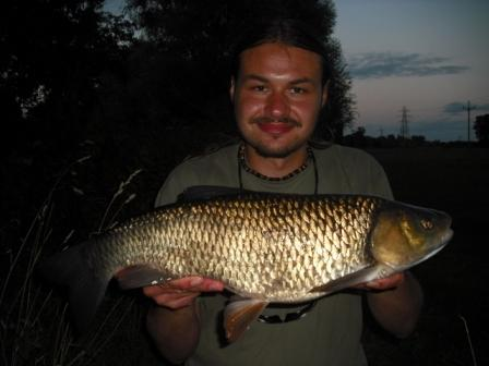 Luke with a 5lb 14oz chub