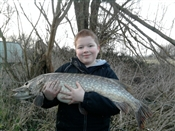 Luke Calkin with a fantastic 24lb 3oz pike