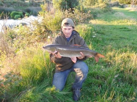 Mark Moss with his first Throop barbel weighing 10lb 2oz