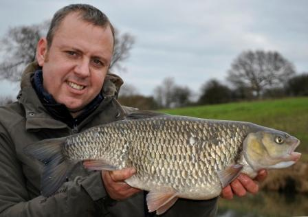Matt Beddows with an Ouse caught 7lb 5oz chub