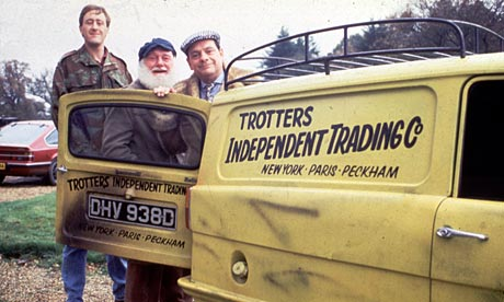 Brian, Chris and Sid stand proudly alongside Throops Fishery Patrol Vehicle (TFPV)