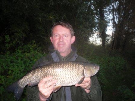 Richard Borley with a 6lb 10oz chub. Next time he's after a 7 pounder!