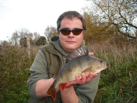 Sam Sargeant with his pb perch