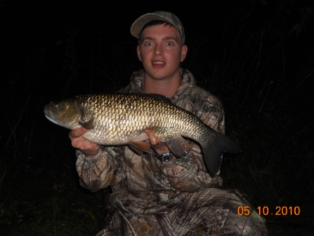 Scott with his second 6lb 4oz chub of the session