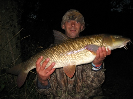 Shaun with his second double of 11lb 14oz