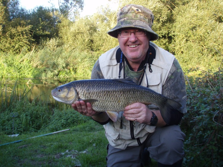 Steve Coles with his new PB chub weighing 6lb 6oz