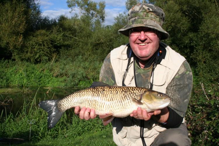 Steve Coles with a lovely 6lb chub