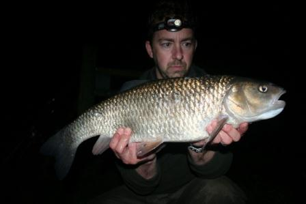 Steve Singleton and his 6lb 10oz Throop caught chub.