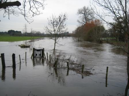 High water around School Bridge