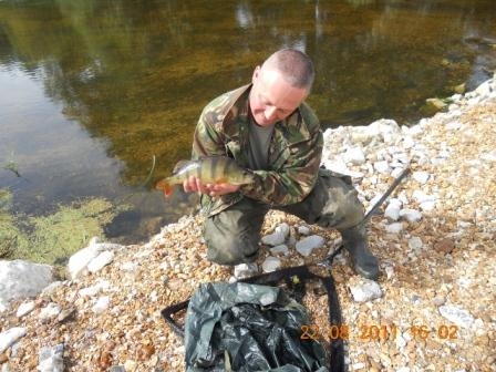 Tony Riley with his 1lb 5oz Perch