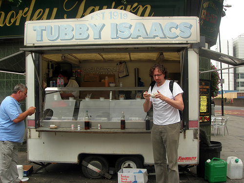 The famous Tubby Isaacs jellied eels stall