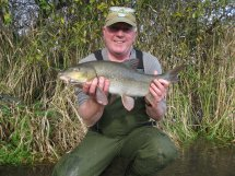 Keith Humphreys and a welcome 6lb 13oz barbel