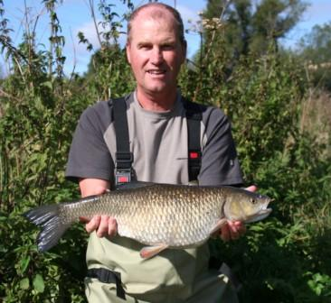 kenny Parsons with the best of his bag of chub weighing 6lb 6oz.