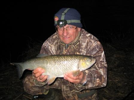 Keith Little and his 5lb chub