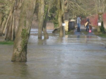 A flooded School Bridge