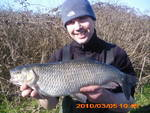 Steve Hellings with one of two 5lb plus chub he took in a session