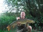Stuart Rhodes with his new PB barbel of 11lb 2oz