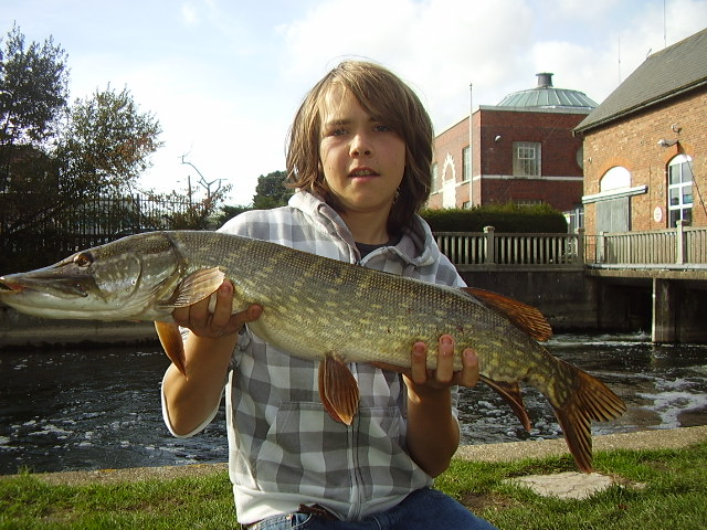 Craig Scattergood with his new pb pike weighing 11lb 9oz
