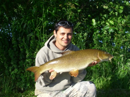 Ahmed Salem with the best of a four fish catch weighing 12lb 4oz