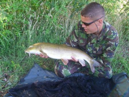 Khalid with a very long fish which was clearly spawned out and weighed 10lb 3oz