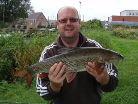 Allan Smallbones with another example of the stamp of young barbel turning up all over the Royalty