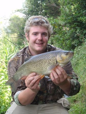 Chris Carter with a typical Royalty chub weighing 4lb 11oz