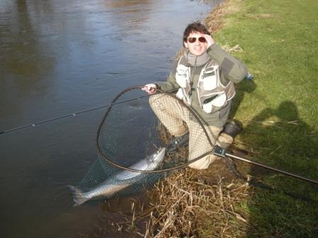 Just look at the grin on the anglers face - priceless!