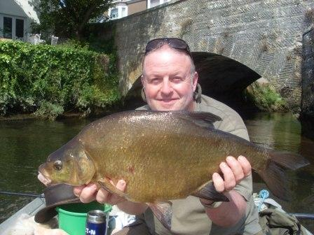 Gary Truelove with the seasons best bream weighing 11lb 3oz from the Waterloo Pool