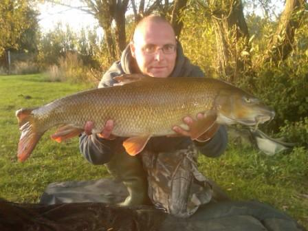Graham Nicholls with his second new pb within three weeks, a stunning 14lb 4oz barbel
