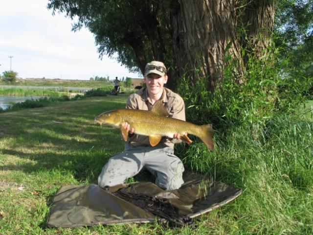 Hugh_Goldsmith with a lovely 12lb 3oz barbel from Greenbanks