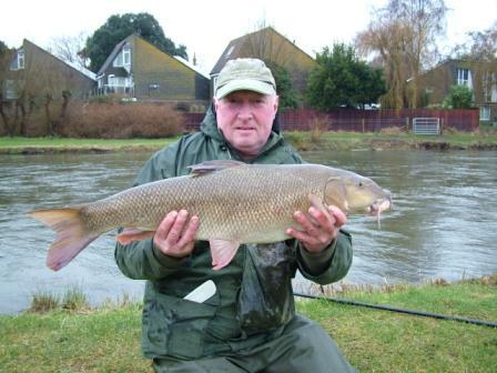 John Stack with a pb equalling barbel weighing 13lb 14oz - nice one John!