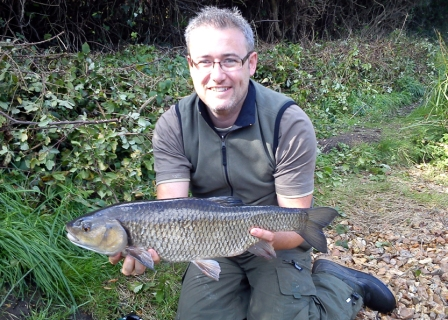 James Boydell with a 5lb 8oz chub