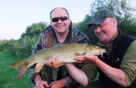 Barry is seen here explaining to Jeff that, in fact, most barbel are actually born larger than that!