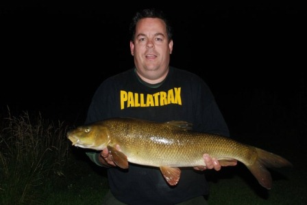 Jez Brown with a last knockings caught 10lb 4oz barbel