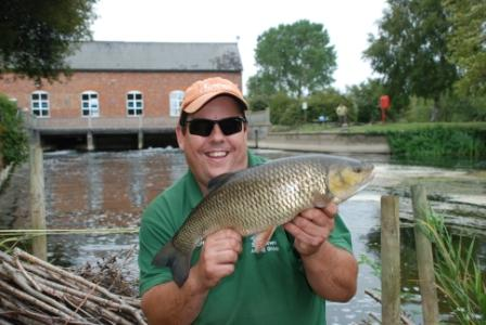 Jez Brown with a 5lb plus chub from the Parlour