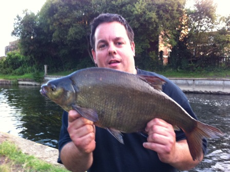 Lord Jez Brown with a 6lb bream