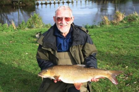 Jim Siford with the smaller of the doubles he has landed this week at 11lb 10oz