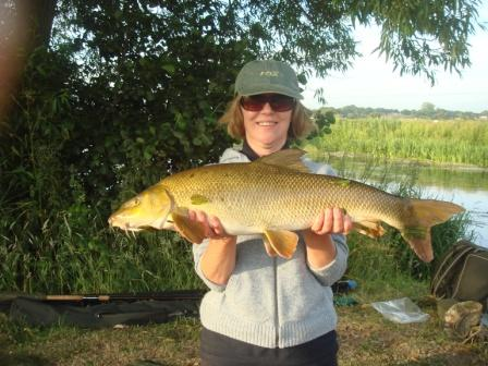 Julie Horsley was rewarded for her trip to the Royalty with this lovely 10lb barbel